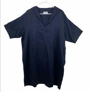 Chimala Cotton Oversized Navy Dress